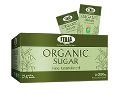 ORGANIC SUGAR BOX WITH 5GR SACHET