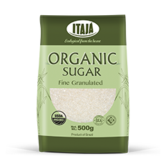 FINE GRANULATED ORGANIC SUGAR - 500GR